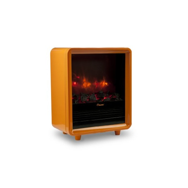 Crane Mini Fireplace Heater, Orange