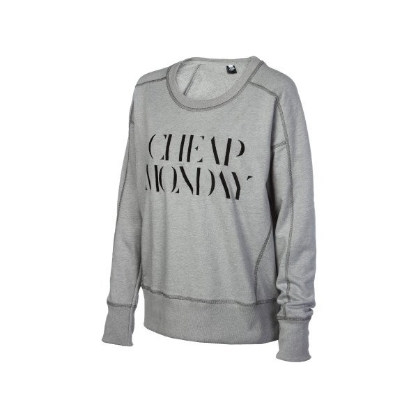 Cheap Monday Naomi Crew Sweatshirt - Women's Grey Melange, XS