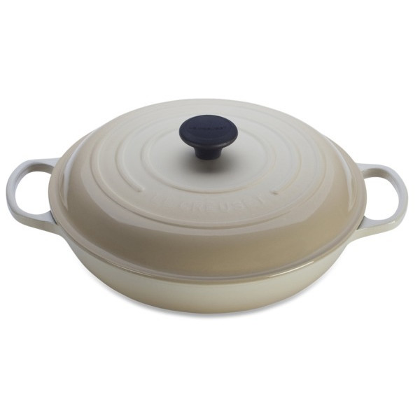 Le Creuset Signature Enameled Cast-Iron 3-1/2-Quart Round Braiser, Dune