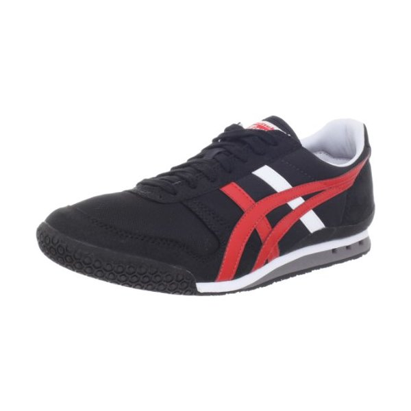 Onitsuka Tiger Ultimate 81 Fashion Sneaker,Black/Fiery Red,12 M US Women's/10.5 M US Men's