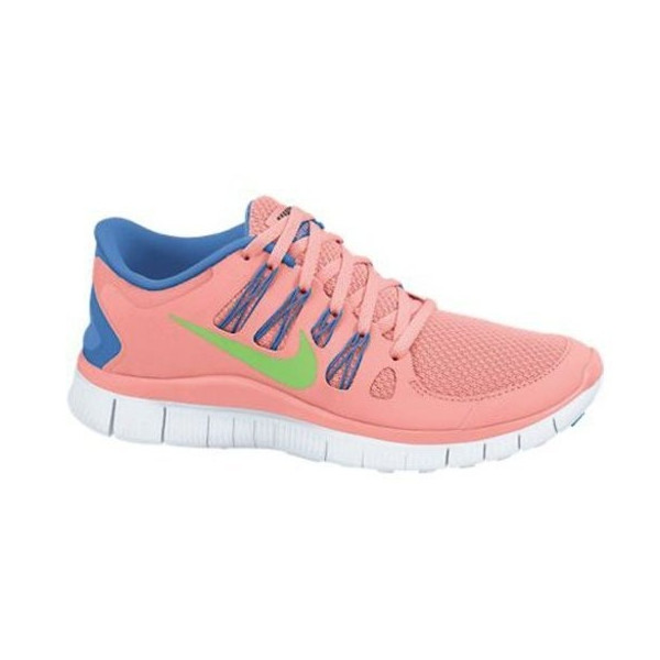 Nike Free 5.0+ Running Shoe Size 7.5 Pink Lime Blue White 580591-634