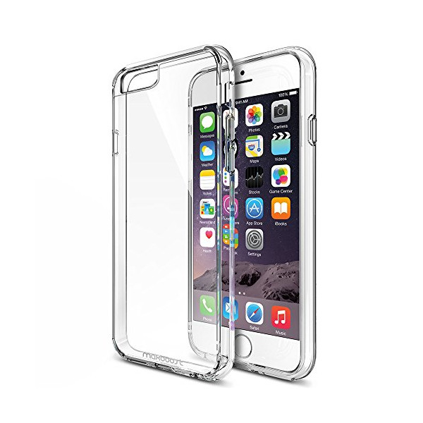 iPhone 6 Plus Case, Maxboost® [Clear Cushion] iPhone 6 Plus (5.5 inch) Cases Bumper [Lifetime Warranty] Seamless integrated Shock-Absorbing Bumper and Ultra Clear Back Panel Protective Cover - Stylish Retail Packaging - Slim Bumper Case for Apple iPhone 6