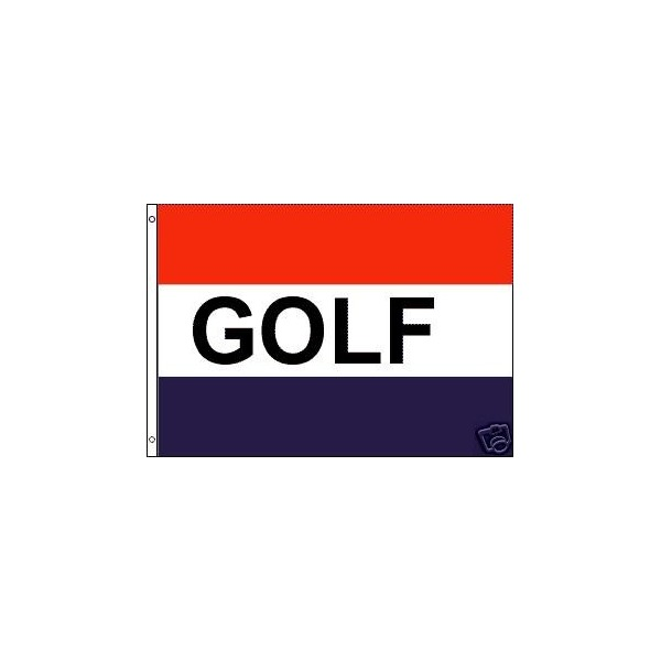 Golf Polyester Flag Banner Sign