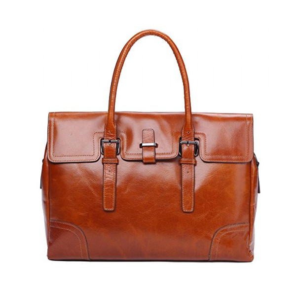 Genuine Leather Top Handle Tote Satchel Business Messenger Briefcase Handbag