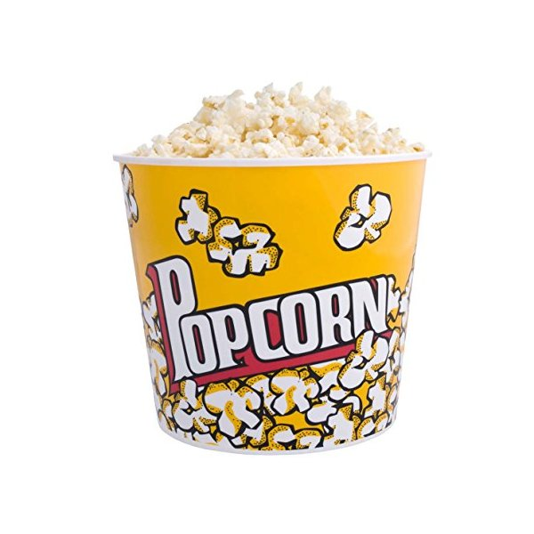 Popcorn Snack Bowl Tub Reusable 2.8l
