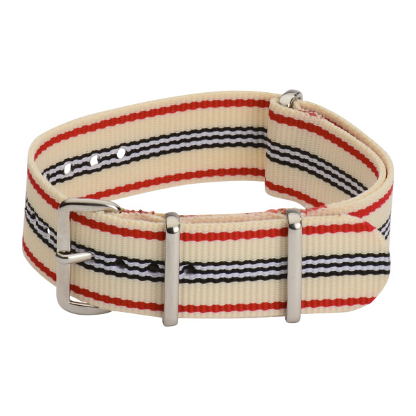 18mm Classic SS Nylon Striped Interchangeable Replacement