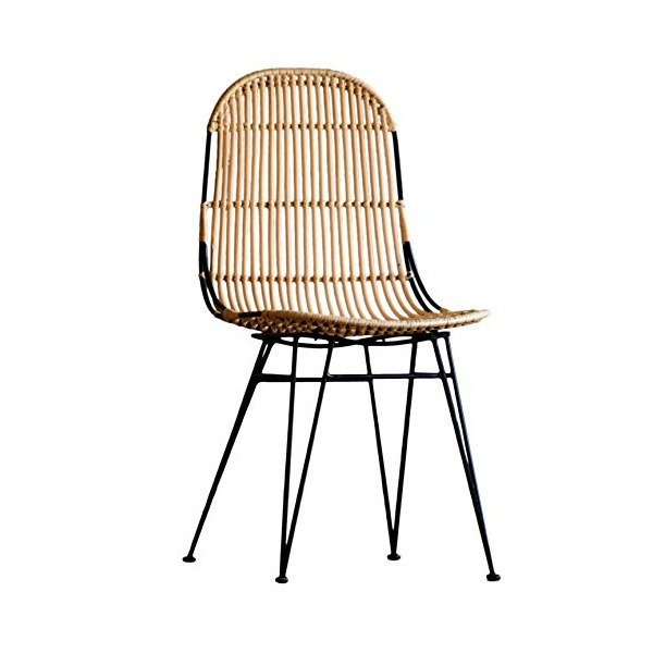 Porthos Home Rattan Indoor/Outdoor Dining Chair, Natural