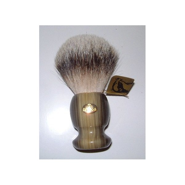 Omega Green and Gold Badger Hair Shaving Brush - Large - #6215