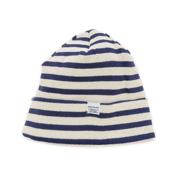 Norse Projects Men's Classic Normandy Top Beanie, Blue
