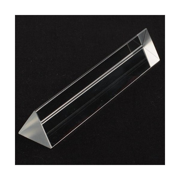 "6"" Amlong Crystal® Optical Glass Triangular Prism for Teaching Light Spectrum Physics 150mm"