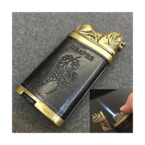 Lion Statue Jet Windproof Refillable Butane Gas Torch Cigar Cigarette Lighter - One Lighter
