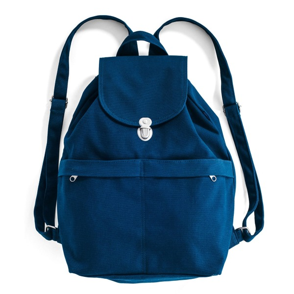 BAGGU Canvas Backpack, Indigo