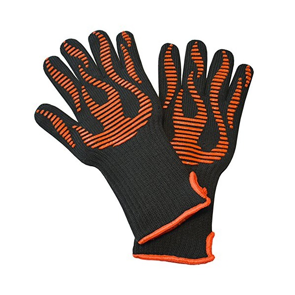 BBQ Craft Grilling Gloves - ★★ EXCLUSIVE Luxury Liner ★★ Only Glove With Easy Open Cuff ★ Quality Guaranteed ★ The Perfect Oven Glove For Baking, Meat Smokers, Pit Grills, Dutch Ovens, and Campfire Cooking.