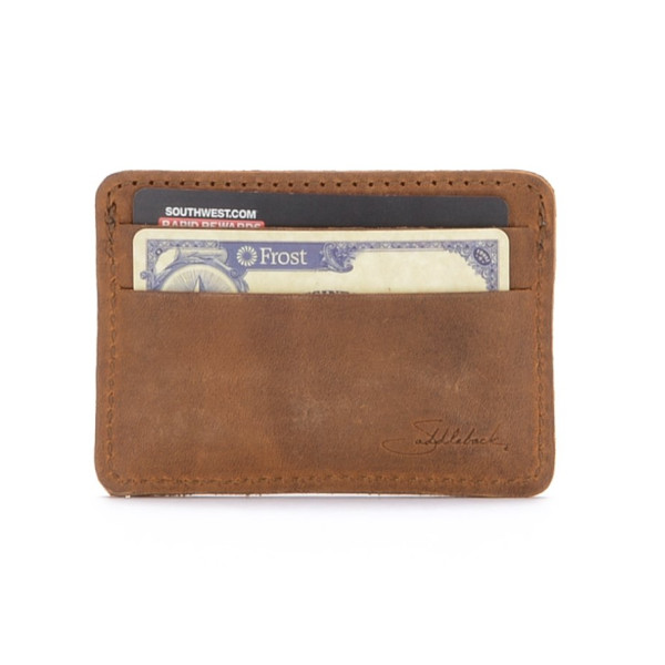 Saddleback Leather ID Wallet, Tobacco