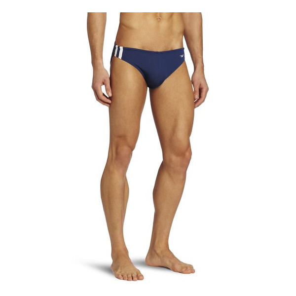 Speedo Men's Shoreline 1 Inch Xtra Life Lycra Fashion Brief Swimsuit, Black, 34