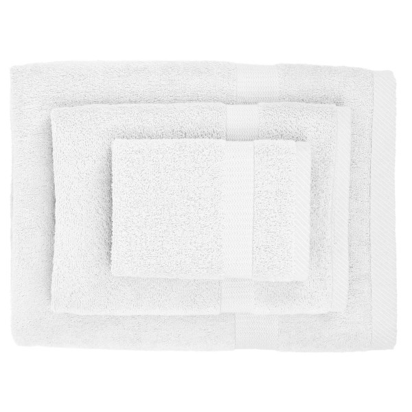Pure Fiber 3-Piece Viscose from Bamboo Bath Towel Set, Pure White
