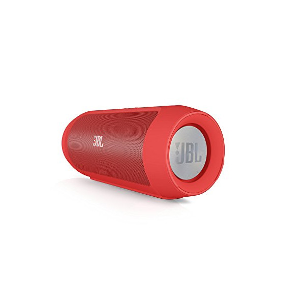 JBL Charge 2 Portable Wireless Bluetooth Speaker with Built-In Mic and PowerBank (Red)