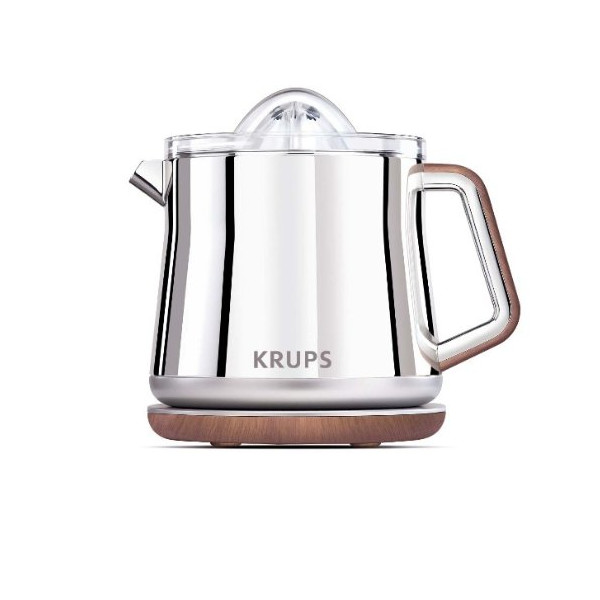 KRUPS Silver Art Collection Citrus Press with Dual Cone Rotation