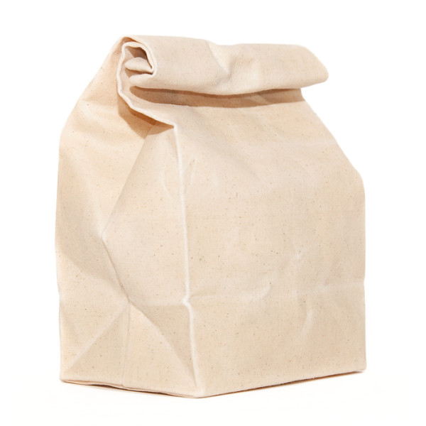 Scoutmob Home Waxed Canvas Lunch Bag, Natural