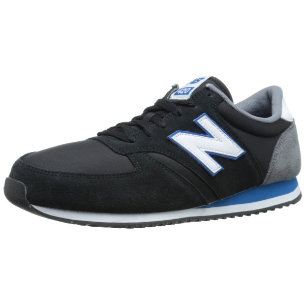 New Balance Men's U420 Classics 70's Running Shoe, Black/Blue, 9 D US