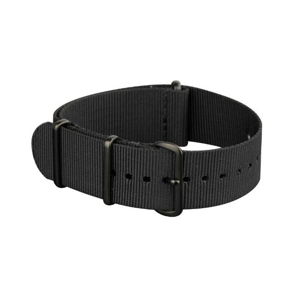 INFANTRY Military Army Mens Nylon Canvas Fabric Wrist Watch Band Strap Black 20mm #WS-NATO-BB-20MM