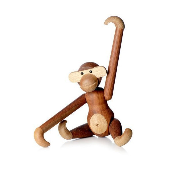 Rosendahl Kay Bojesen Wooden Monkey, Small, Teak/Limba