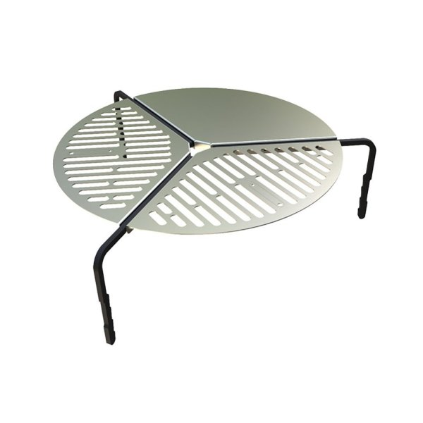 "Spare Tire Mount Stainless Steel BBQ Campfire Cooking Grate for Tires up to 37"" - by Front Runner"