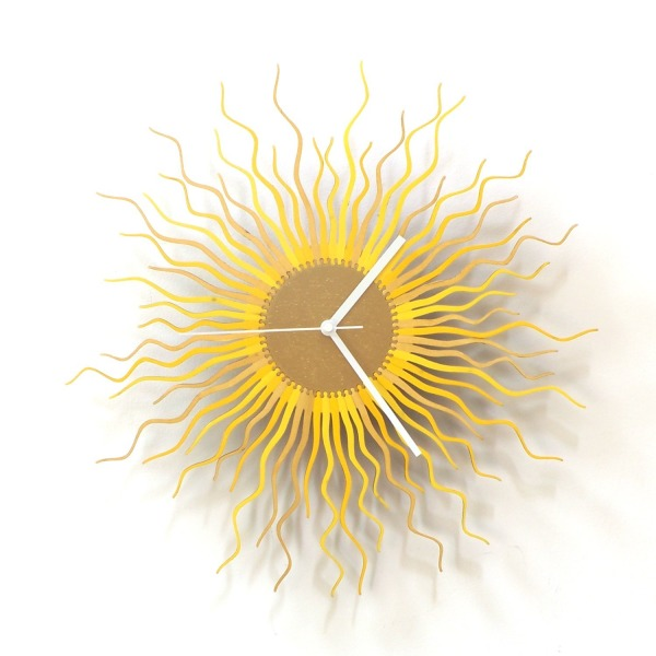 Medusa in gold - large sized contemporary wooden wall clock