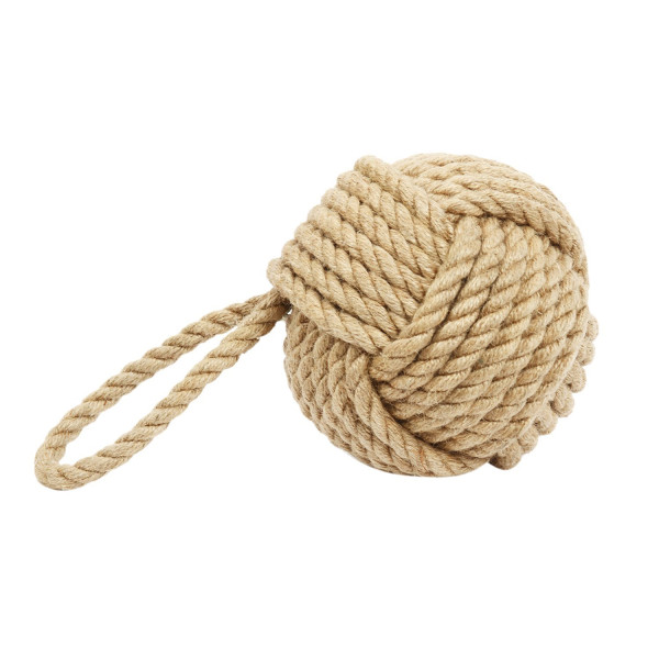 "5"" Monkey Fist Nautical Doorstop Rope Sailor Knot"