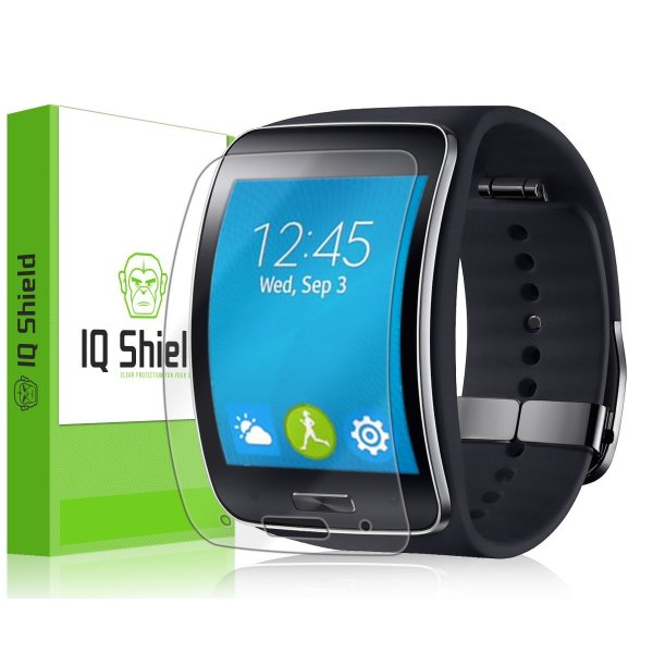 IQ Shield LiQuidSkin (6-PACK) - Samsung Gear S Screen Protector with Lifetime Replacement Warranty - High Definition (HD) Ultra Clear Smart Film - Premium Protective Screen Guard - Extremely Smooth / Self-Healing / Bubble-Free Shield - Kit comes in Frustr