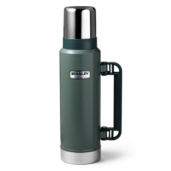 Stanley 1.1QT Classic Vacuum Bottle, Hammertone Green