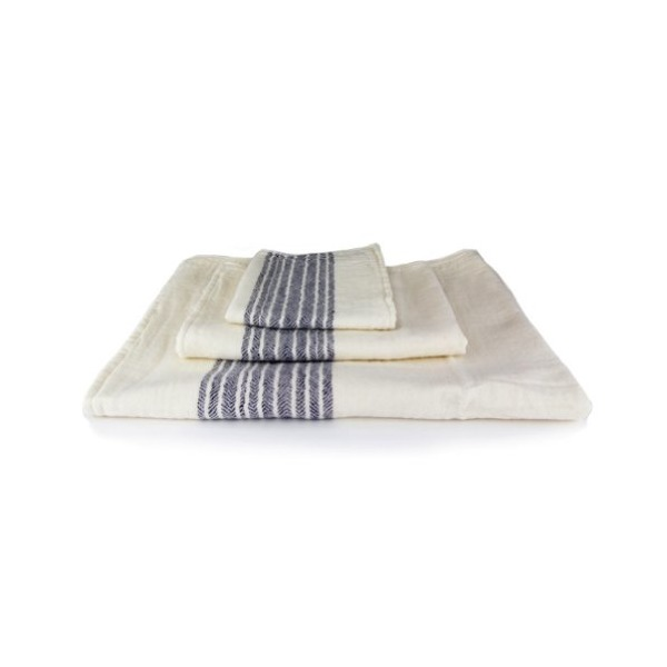 Kontex Organic Cotton Towels From Imabari, Japan - 3 Piece Set, Navy
