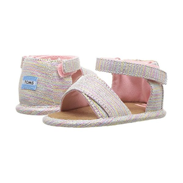 TOMS Kids Baby Girl's Shiloh (Infant/Toddler) Pink Multi Twill Glimmer 4 M US Toddler