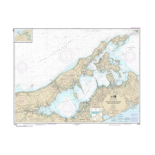 NOAA Chart 12358: New York Long Island: Shelter Island Sound and Peconic Bays; Mattituck Inlet, 34.8 X 45, TRADITIONAL PAPER