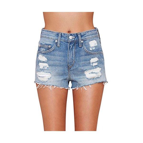 Women's Jack Cut Off Short Vintage Levi's Frayed Shorts Denim High Rise-XXXL