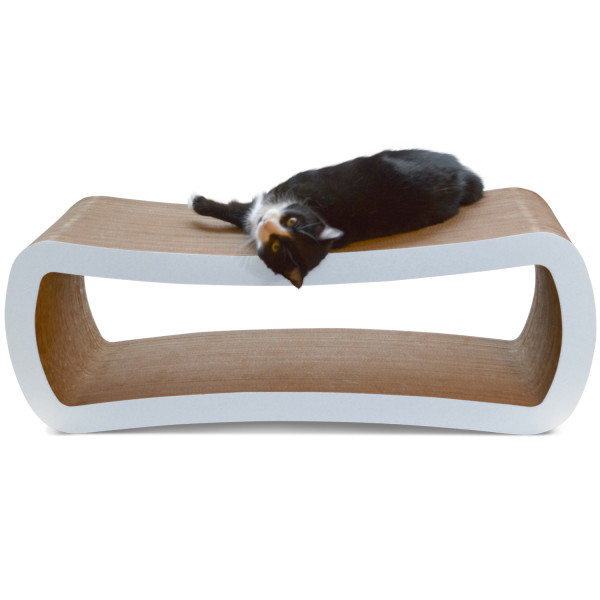 PetFusion Jumbo Cat Scratcher Lounge, White
