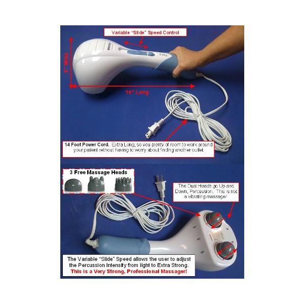 TheraRUB® Percussion Double Head Electric Massager