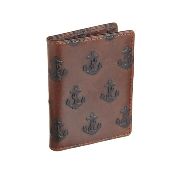 Jack Spade Men's Embossed Anchor Vertical Flap Wallet