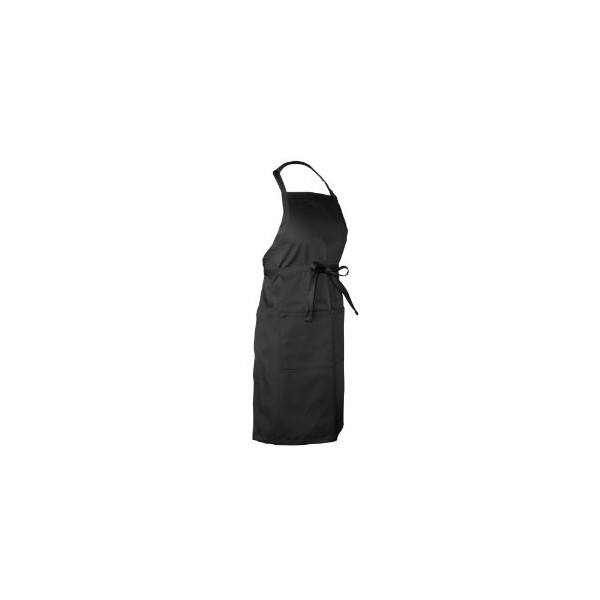 Chef Works F8 Butcher Apron, 34-Inch Length by 24-Inch Width, Black