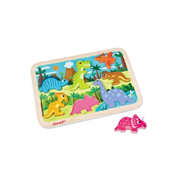 Juratoys Dinosaurs Chunky Puzzle Wooden Puzzle