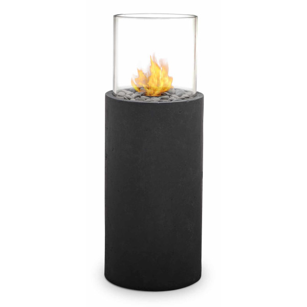 Real Flame Modesto Fire Column, Black Slate