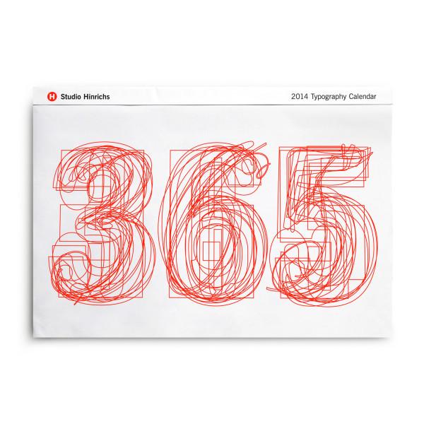 2015 Typography Calendar by Studio Hinrichs
