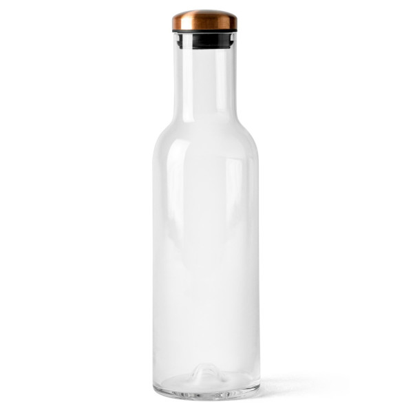 Menu Water Bottle with Copper Lid