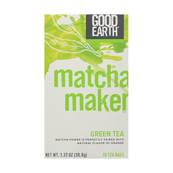 Good Earth Super Green Tea, Matcha Maker Green Tea - 18 Ct. Box