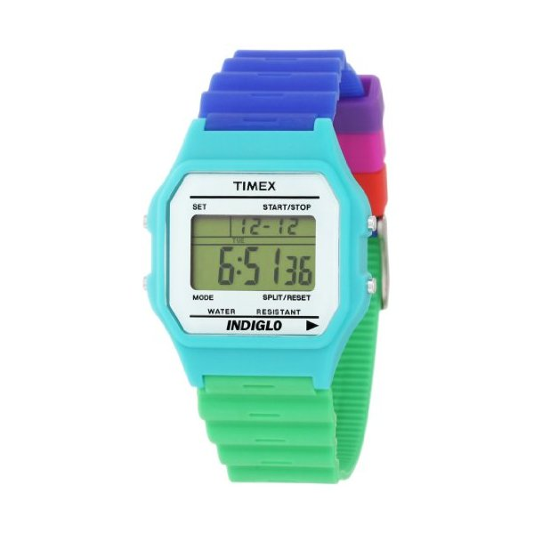 Timex Unisex Fashion Digitals Premium Multicolor Watch