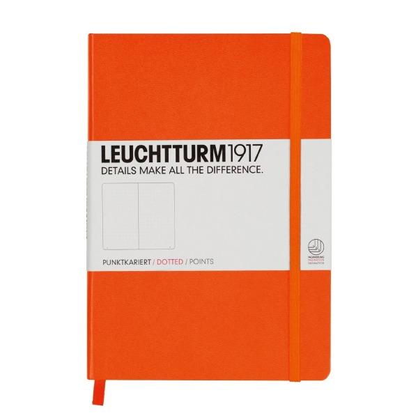 Leuchtturm Medium Hardcover Dots Orange
