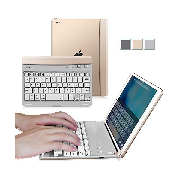 Fintie iPad mini 4 Keyboard Cover - Blade Z1 Ultra Slim [Multi-Angle] Wireless Bluetooth Keyboard (with Auto Wake / Sleep) for Apple iPad mini 4 Released on 2015, Gold