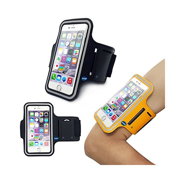 iPhone6 Plus Sports Armband, Nancy's shop Easy Fitting Sports Universal Armband With Build In Screen Protect Case Cover Running band Stylish Reflective Walking Exercise Mount Sports Sports Rain-proof Universal Armband Case+ Key Holder Slot for Iphone 6 Pl