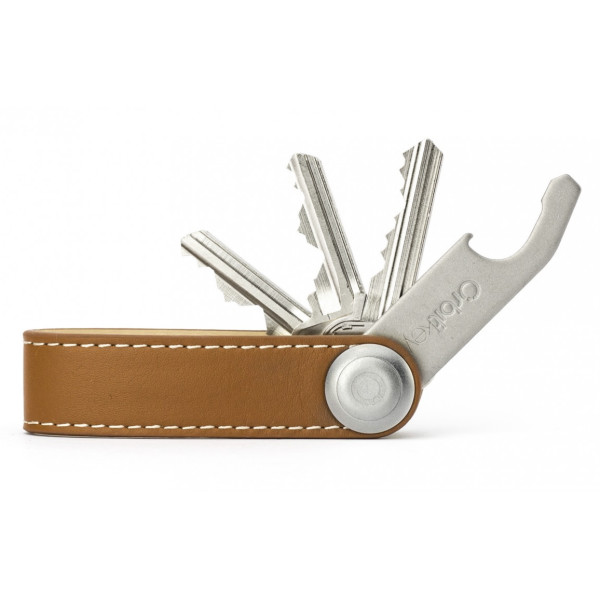 Orbitkey Clutter-Free Leather Key Holder, Tan