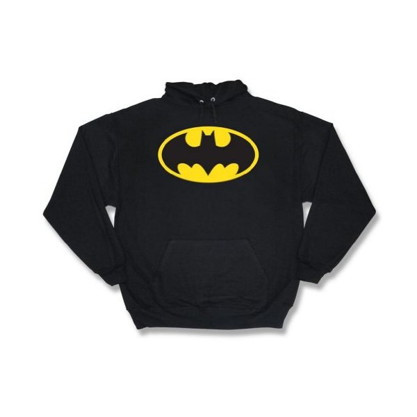 DC Comics - Batman classic logo Men's Hooded Sweatshirt, black, Small
